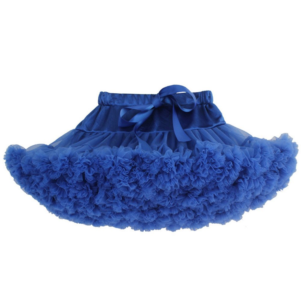 KoKoHouse Girl's Tutu Skirts Multi-layer Petticoat Underskirt Colored Crinoline (M, Royal Blue)