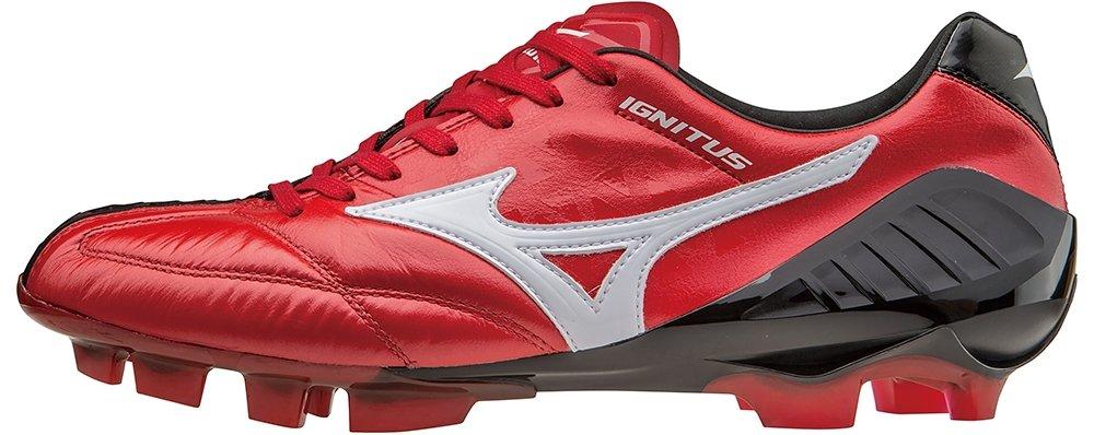 Mizuno Wave Ignitus 4?KL fussballschuhe Premium in pelle rosso/nero, taglia 44