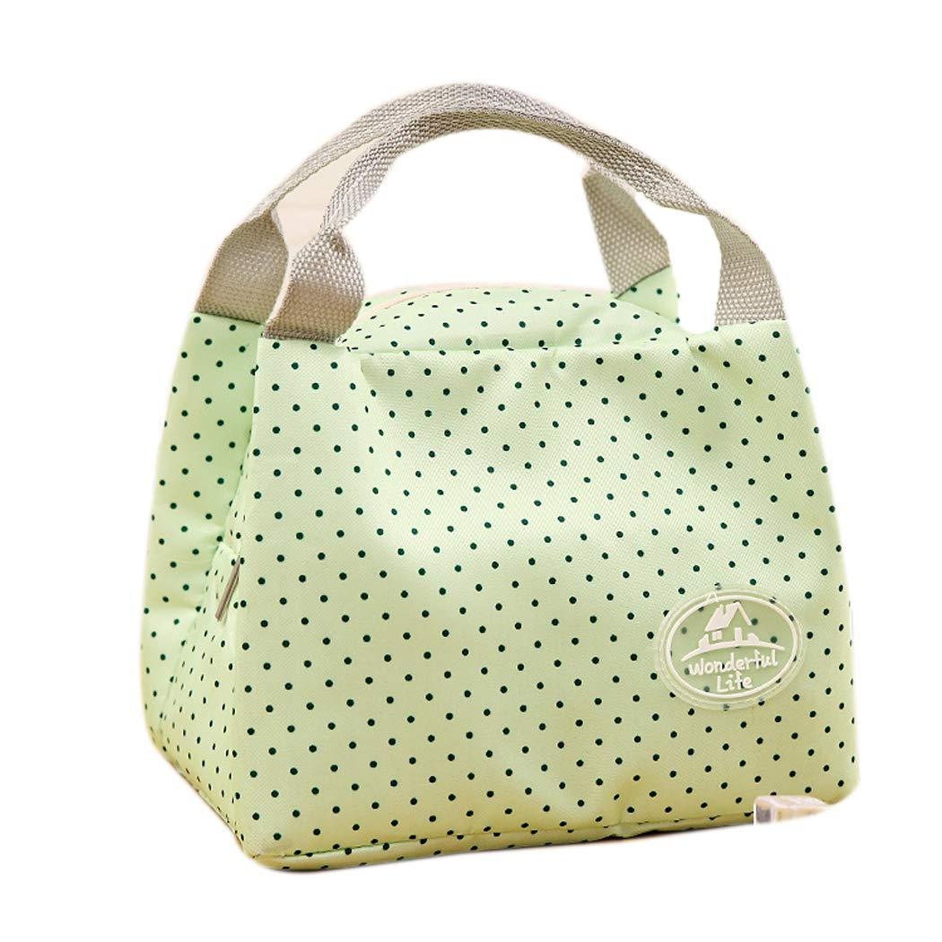 1PCS Insulated Thermal Cooler Lunch Bag Pouch Picnic Storage Box (Green)