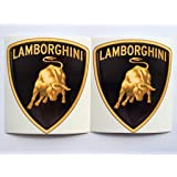 2 lamborghini new logo die cut decals by sbd decals
