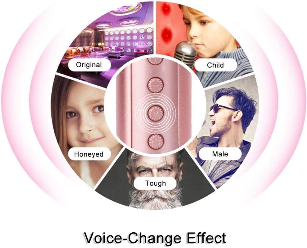 Wireless microphone Wireless Karaoke Microphone With Disco Light Handheld Mic Bluetooth Speaker Mikrofon Karaoke Machine Home KTV Music Player color : Pink
