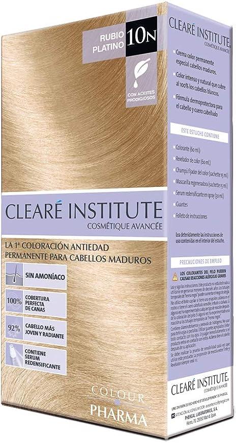 Colour Pharma|Tinte Sin PPD ni Amonicaco | Coloración Antiedad | 100% Cobertura de Canas Rebeldes, Con Serum Redensificante | 10N. Rubio Platino | ...