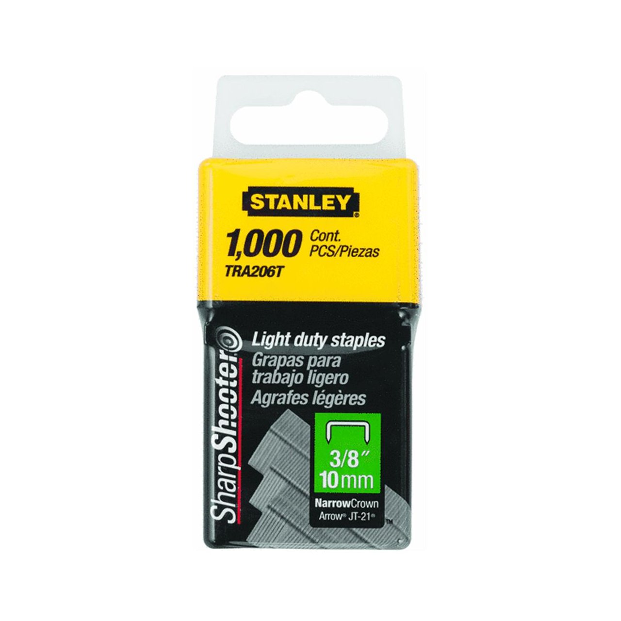 Stanley Tra206T 3//8 Inch Light Duty Staples 2 pack Pack of 1000