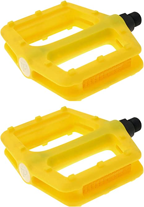Pedales Nylon Fixie BMX Downhill Free Style Color Amarillo para ...