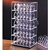 Rotating Watch Stand Holds 60 Watches Measures 12'' x 8 1/2'' x 24 1/2'' tall