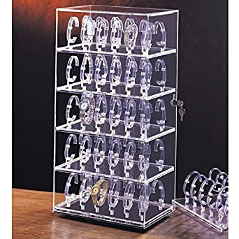 Amazon Com Rotating Watch Stand Holds 60 Watches Measures
