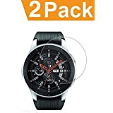 RKINC forSamsung Wacth 46mmScreen Protector, [2 Pack] Crystal Clear Tempered Glass Screen Protector [9H Hardness][2.5D Edge][0.33mm Thickness][Scratch Resist] forSamsung Galaxy Wacth 46mm