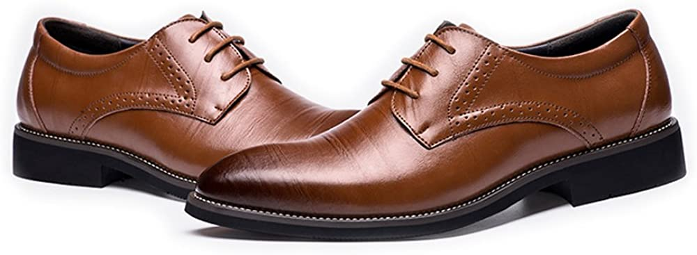 LL Mens Genuine Leather Modern Tuxedo Shoes Lace Up Business Lined Oxfords Driving Shoes