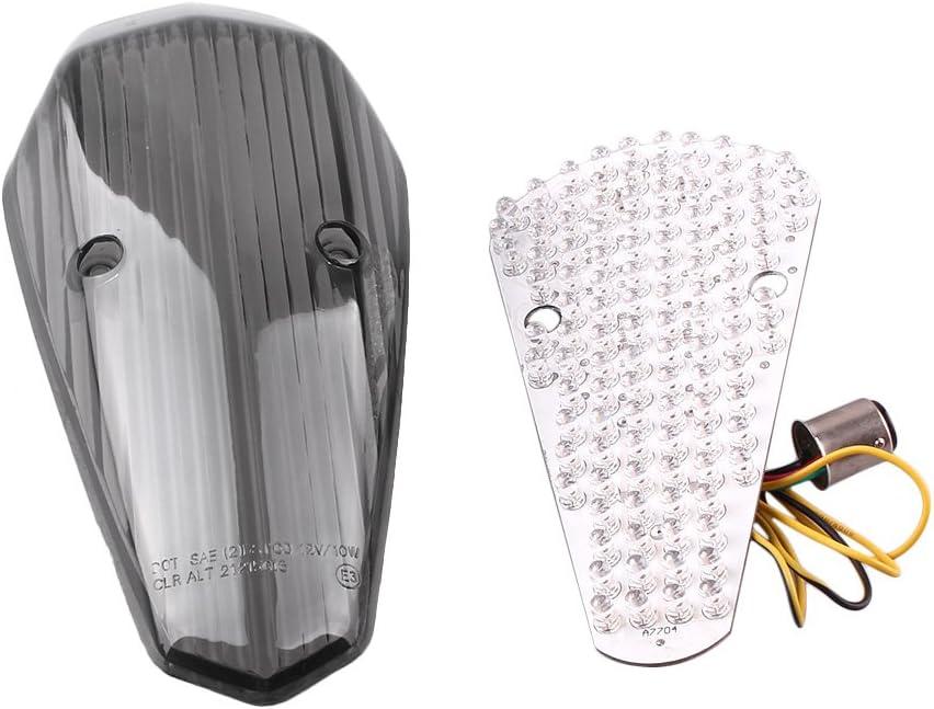 Newsmarts Smoke LED Taillights Lamp Integrated Brake Tail Light Turn Signal for HONDA SHADOW AERO 750 2004-2007