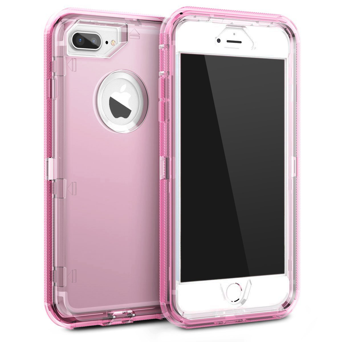 sports shoes c0f81 56d0e MAXCURY iPhone 8 Plus/7 plus/6s Plus/6 Plus Case, Anti-Shock Hybrid  Protective Clear Phone Case 3 in 1 Dual Layer Shockproof Case for iPhone 6  plus/6s ...