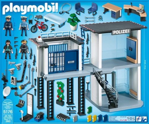 Playmobil 5176 Polizei Kommandostation Mit Alarmanlage Amazon De