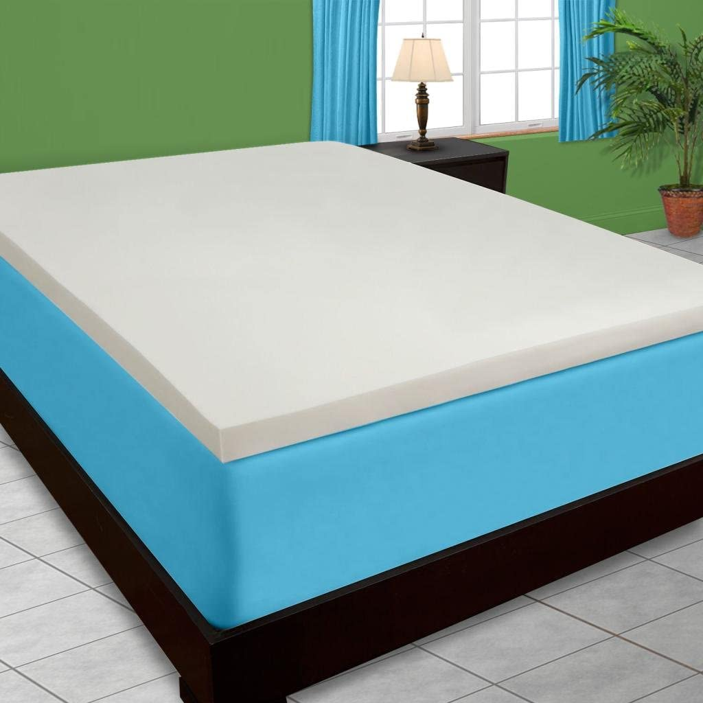 DreamDNA 4lb Full Double Size 4 American Made Visco Elastic Memory Foam Mattress Topper