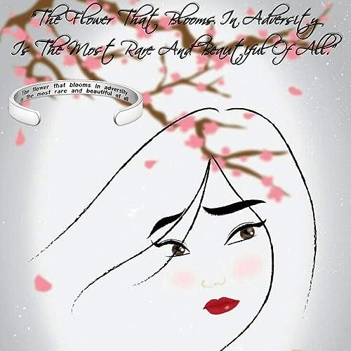 Amazon.com: KUIYAI Pulsera con cita de Mulan, la flor que ...