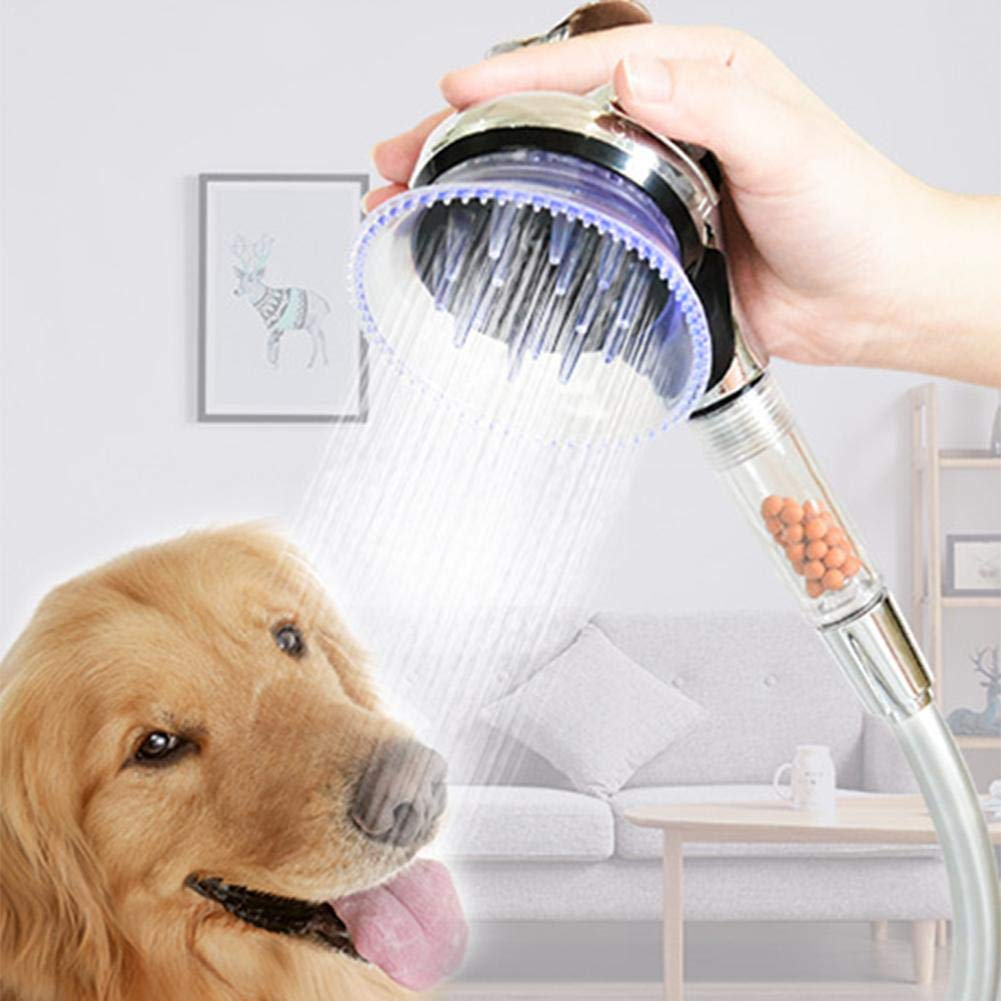 Pet Shower Head Dog Washing Sprayer Massage Grooming Water Saving Handheld Bath Tool Shampoo Brush for Dog Puppy Cat