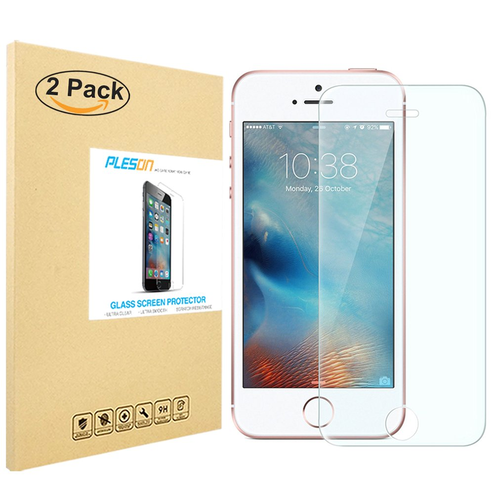 Iphone Se Screen Protector Pleson [2-Pack] Iphone Se Tempered Glass Screen Pr.. 14