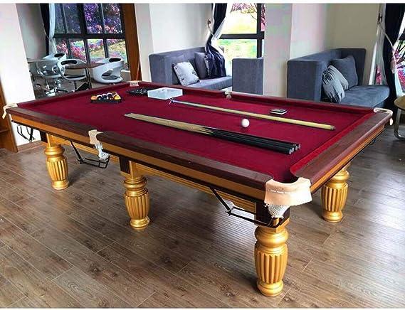 Tenlacum - Mantel para Mesa de Billar con 6 Tiras para Mesa de Billar de Billar de 2,74 m, Rojo: Amazon.es: Deportes y aire libre