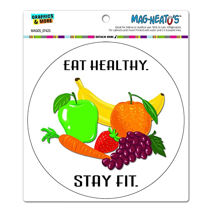 amazon com graphics and more eat healthy stay fit fruits