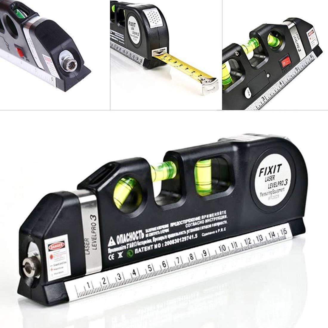 Regla de medición de proyectos rectos con guía láser industrial, para colgar cuadros
