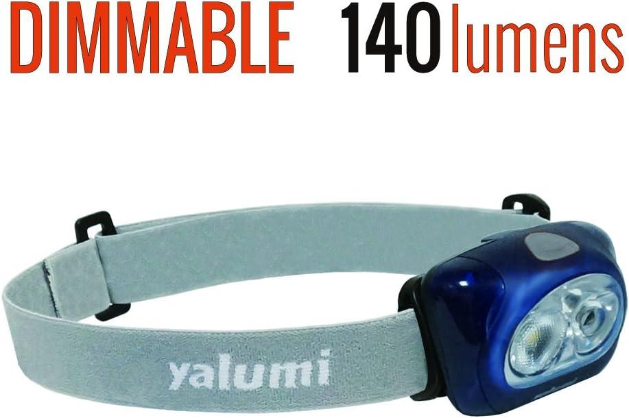 Yalumi LED Headlamp Spark Professional 120-lumen Floodlight/90-lumen Spotlight White/red Night Vision, Electronic Wide/Narrow beam angle switching, Less than 2.8 oz