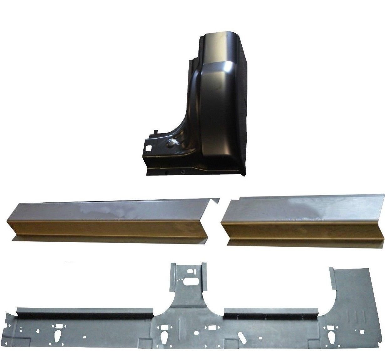 Works With 1999-2015 Ford Super Duty Crew Cab Front /& Rear Rocker Panels And Cab Corners Motor City Sheet Metal