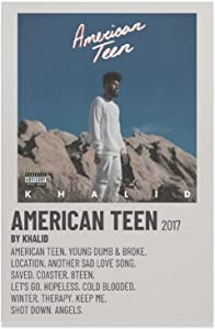KHALID - AMERICAN TEEN 2017 Canvas Poster Bedroom Decor Sports Landscape Office Room Decor Gift Unframe-KHALID - AMERICAN TEEN 20171012×18inch(30×45cm)