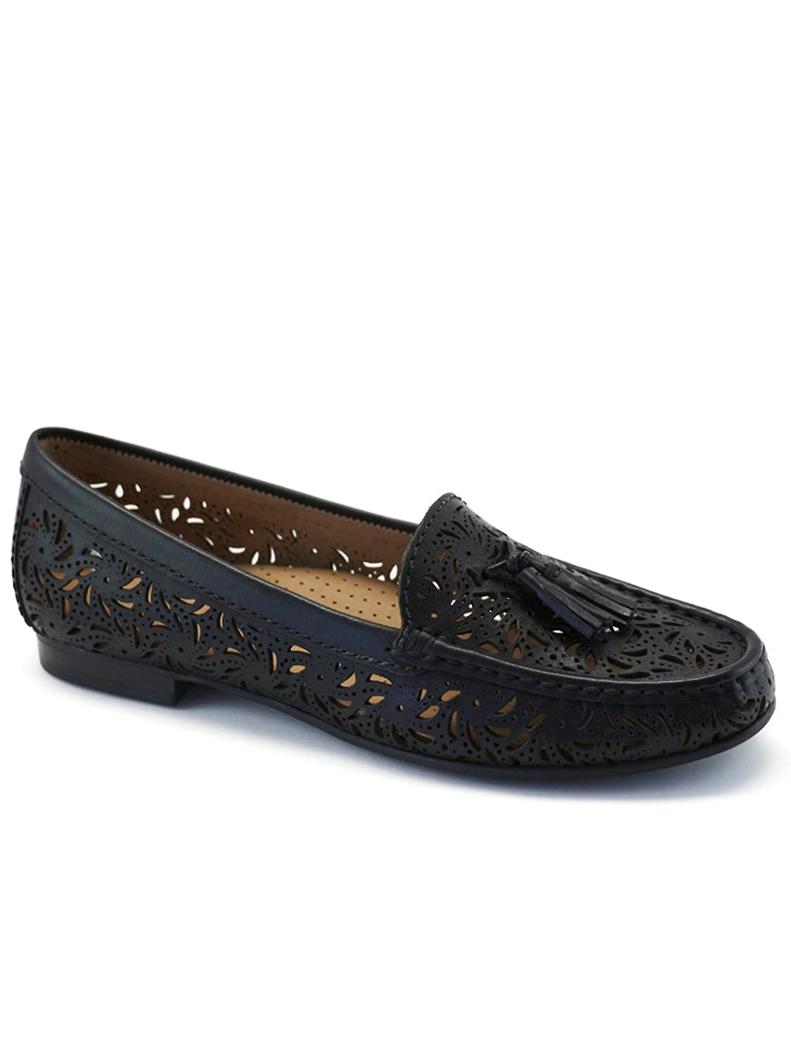 Driver Club USA Women's Fashion Shoes Palm Beach Perforated Tassel Loafer (More Size/Colors Available)