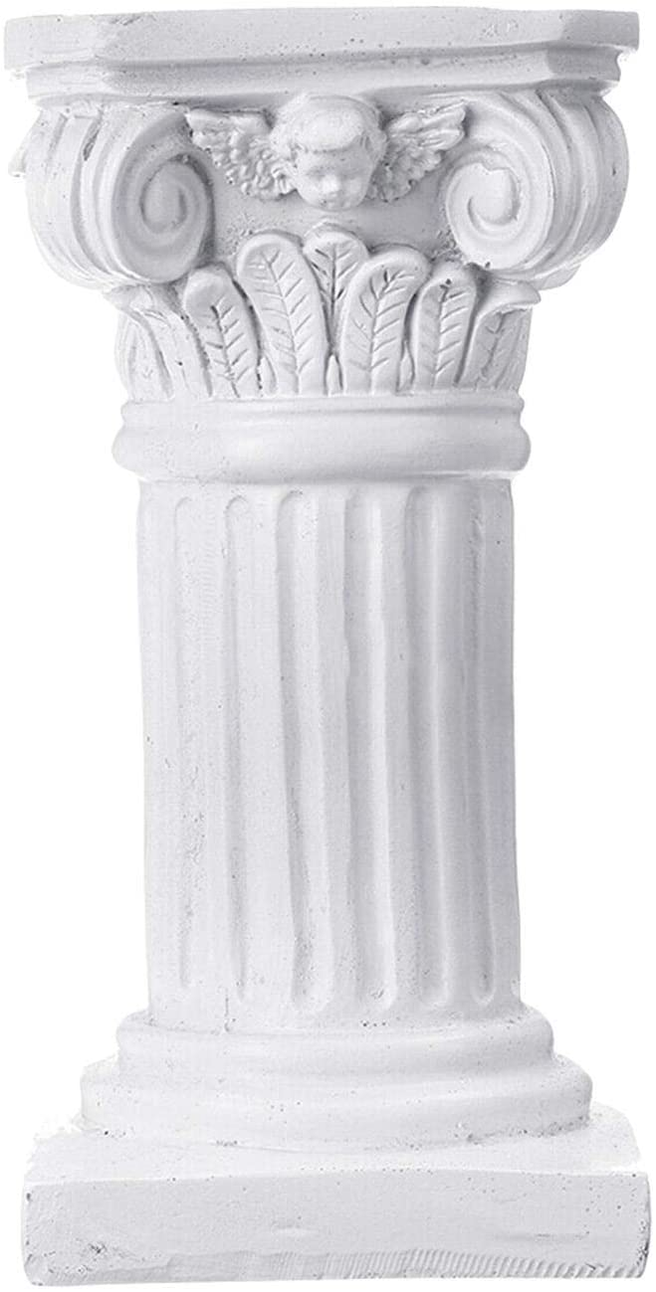 beiyoule Garden Statue Roman Pillar Greek Statues for Home Decor Statue Indoor Outdoor Modern Home Decor Columns for Weddings Antique Resin(White)