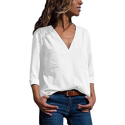 Ropa Camisas Mujer, ❤ Modaworld Camiseta de Manga Larga para Mujer Blusa Casual Jersey