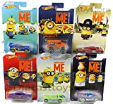 1:64 DESPICABLE ME - ''MINION MADE'' CARS ASSORTMENT ''A'' 6PCS DWF12-999A DIECAST BY HOT WHEELS DEORA II  FISH'D & CHIP'D  JESTER MONSTER DAIRY DELIVERY SLIKT BACK  SYNKRO