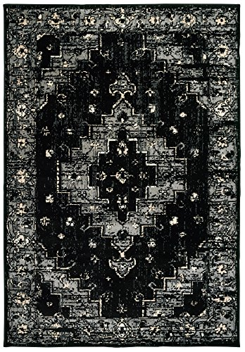 (LR Home INFIN81308BKG7995 Infinity Area Rug, 7'9