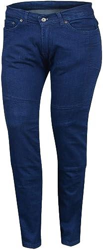 Bikers Gear Australia Limited Damen Stretch Gefüttert Mit Kevlar Motorrad Schutz Jeans Mit Abnehmbare Armour Blau Größe 18 Bekleidung