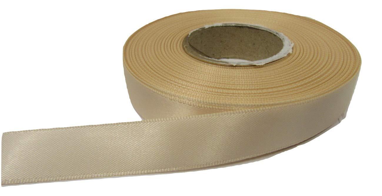 Beautiful Ribbon 2 metri di nastro di raso 15 millimetri nudo beige chiaro doppia faccia 15 mm 15mm