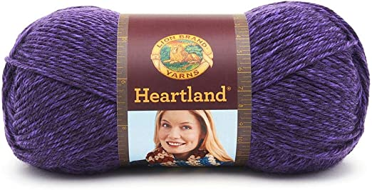 Pack of 3 skeins Lion Brand Yarn 136-147 Heartland Yarn Hot Springs