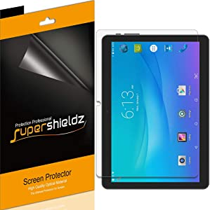 (3 Pack) Supershieldz for Onn 10.1 inch Tablet and Onn Tablet Pro 10.1 inch Screen Protector, High Definition Clear Shield (PET)