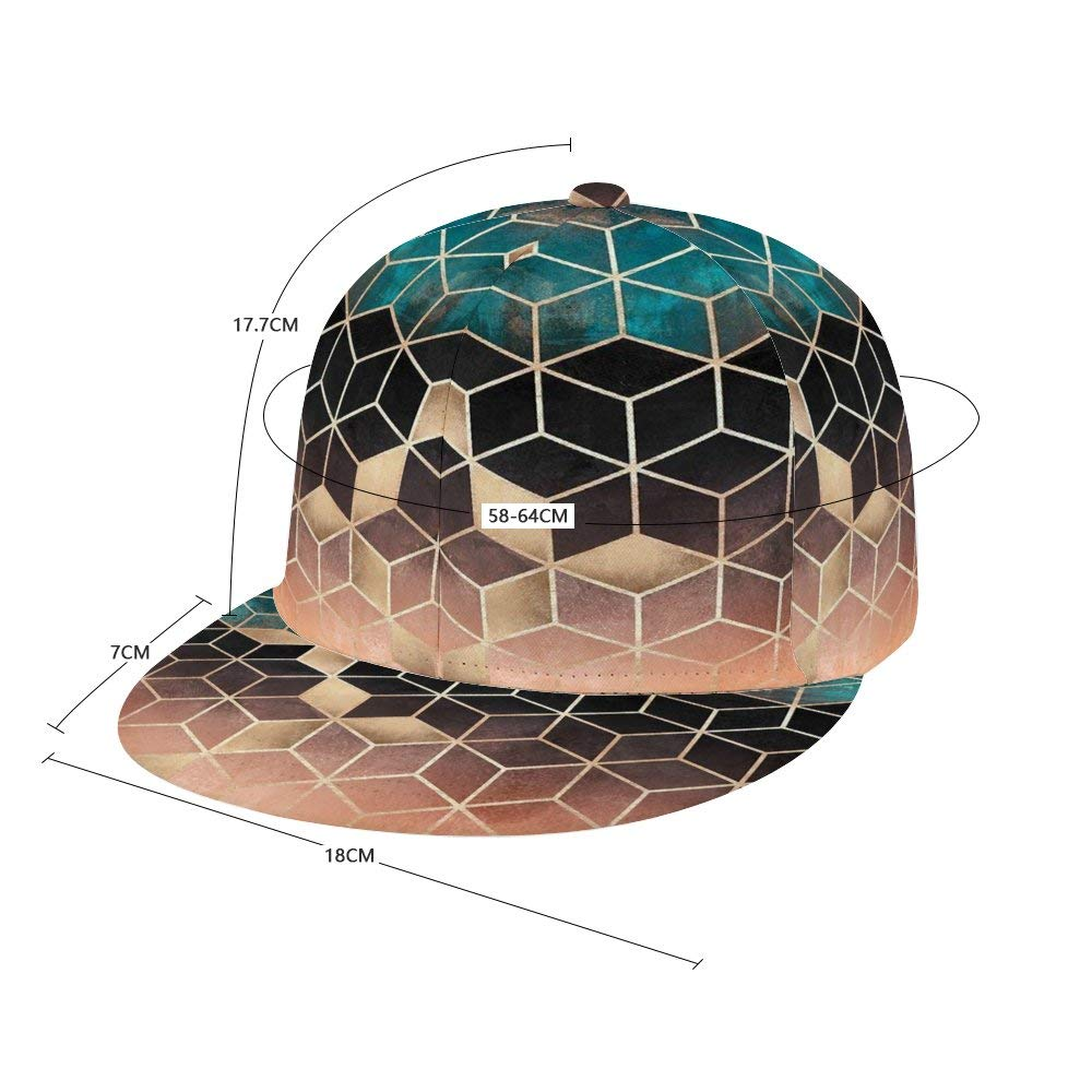 Dongi Omre Dream Cubes Unisex Full-Print Flat Rubber Ball Cap can Adjust Hip-hop Style