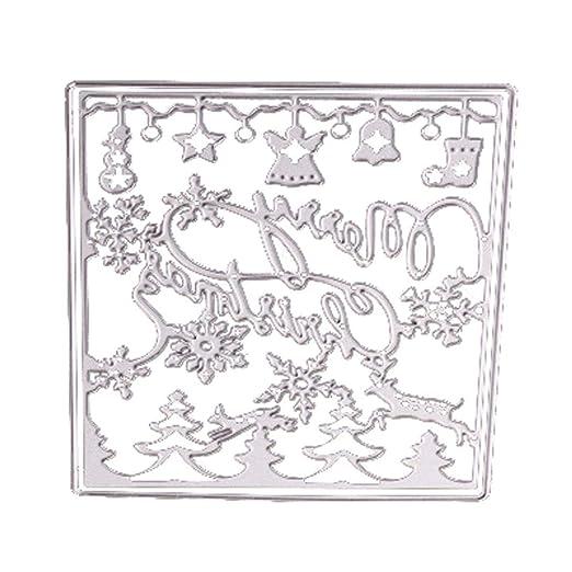 yuny Oud Metal para Repujado Plantillas DIY Scrapbooking álbum ...