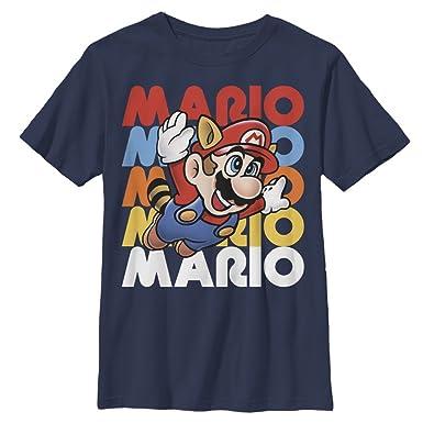 c30bc09b7e9b5b Amazon.com  Nintendo Boys  Flying Raccoon Mario T-Shirt  Clothing
