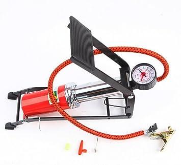 Portátil suelo aguja de bomba de pie con manómetro y adaptador ...
