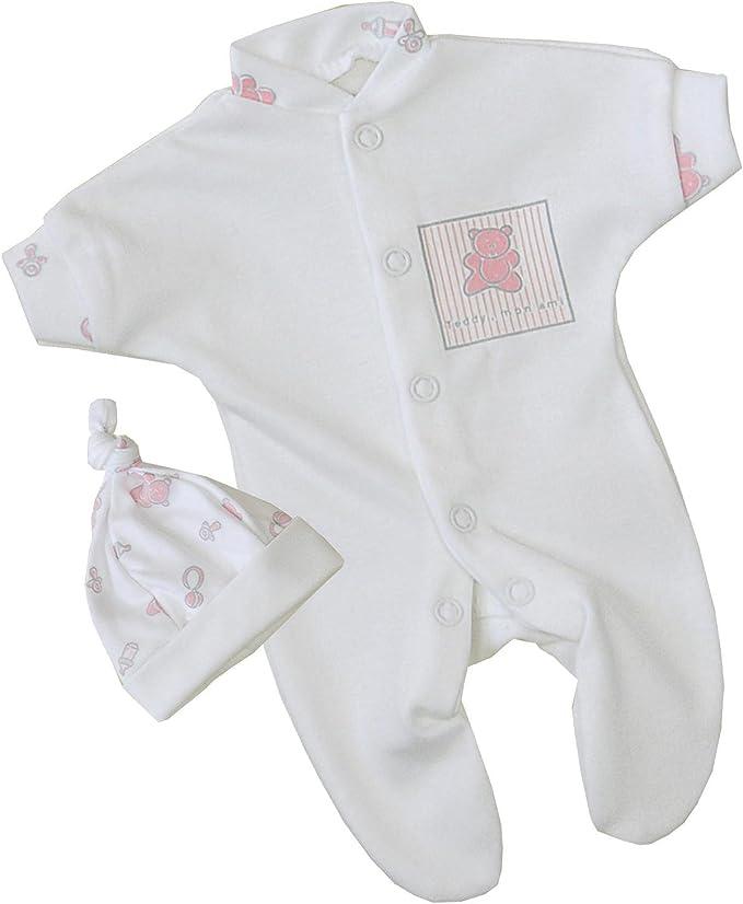 BabyPrem Preemie White Cream Stars Baby Clothes 3 Piece Set Sleeper Romper Hat