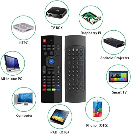 Browser for Philips/65PUS6554//12 65 Remote Control for YouTube Black Wireless Mini Keyboard /& Mouse Easy Control