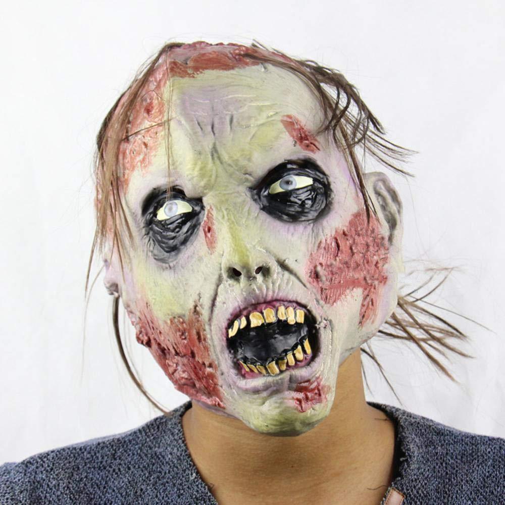 Circlefly Disgustoso orrore adulto del Costume di Halloween Natale zombie horror marcio viso zombie puntelli palla maschera fantasma