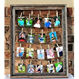 Multiple Picture Frame Barnwood, Clothespin Collage, Rustic Home Decor, Rustic Placecard Holder, Wedding Decor, Gift for Grandpa, Christmas Gift for Grandma, Gift for Mom and Dad, Photo Display