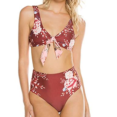 Bikini Da Donna Costumi Da Bagno Costume Da Bagno Con Allacciatura Al Collo Push-up high waist 36 38 40 42 44