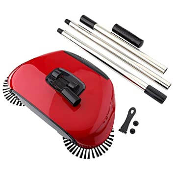 Dharmsut Sweeper mop New Designe and Easy Use Auto Spin Hand Push Sweeping Broom Floor Dust Cleaning Sweeper Cleaner Mop Tool-Color May Very
