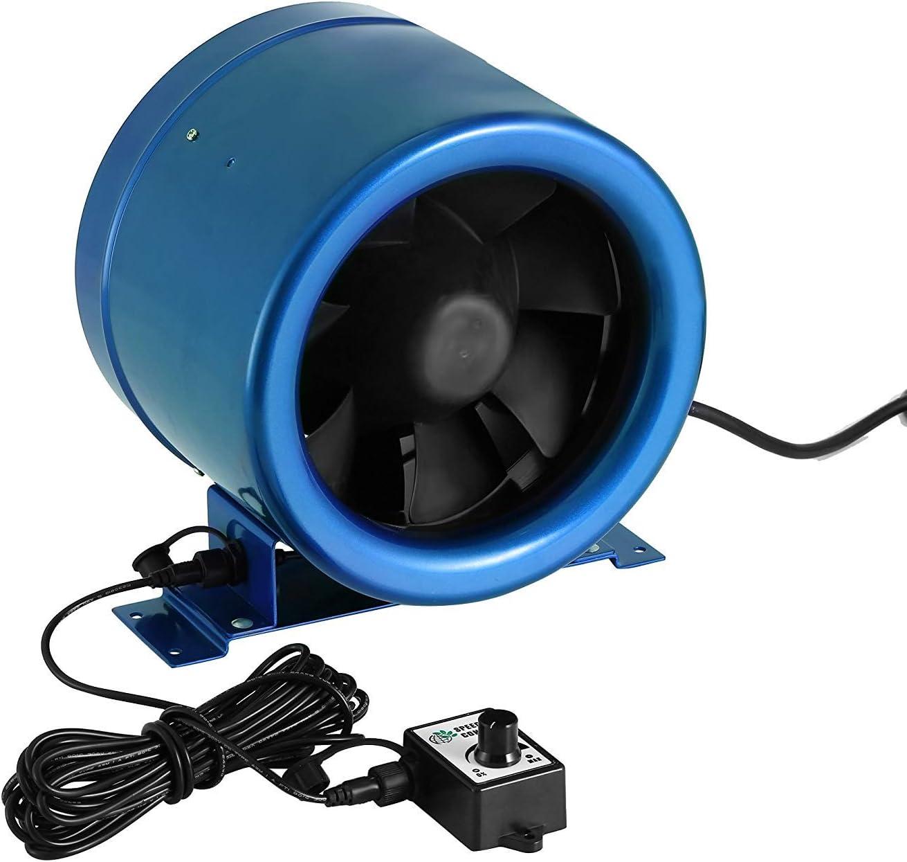 GYPQS Sin Escala regulación de revoluciones del Ventilador de Tubo Circular 125/5 Pulgadas silencioso de Escape Ventilador de ventilación de la Cocina del Hotel Potente Ventilador de conducto