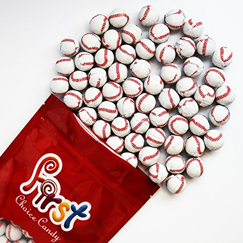 FirstChoiceCandy Chocolate Baseballs 1 Pound Resealable Bag