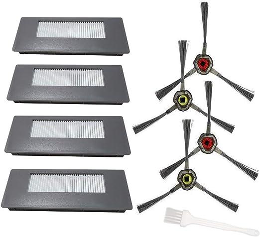 Sweet D Filtros y Cepillos Laterales Compatible con Ecovacs Deebot 900 901 Robot Aspirador Accesorios: Amazon.es: Hogar