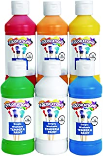 product image for Colorations Simply Washable Tempera Paint, 19Color Variety Set (16oz.Each) –Easily Washes Off –Vibrant Colors, Rich Coverage -Dries to a Matte Finish –, Economical Classroom Paint