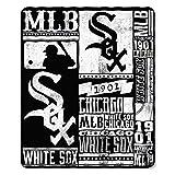 "MLB Chicago White Sox Strengthmlb Strength 50"" x 60"" Printed Fleece Throw, White,Black"