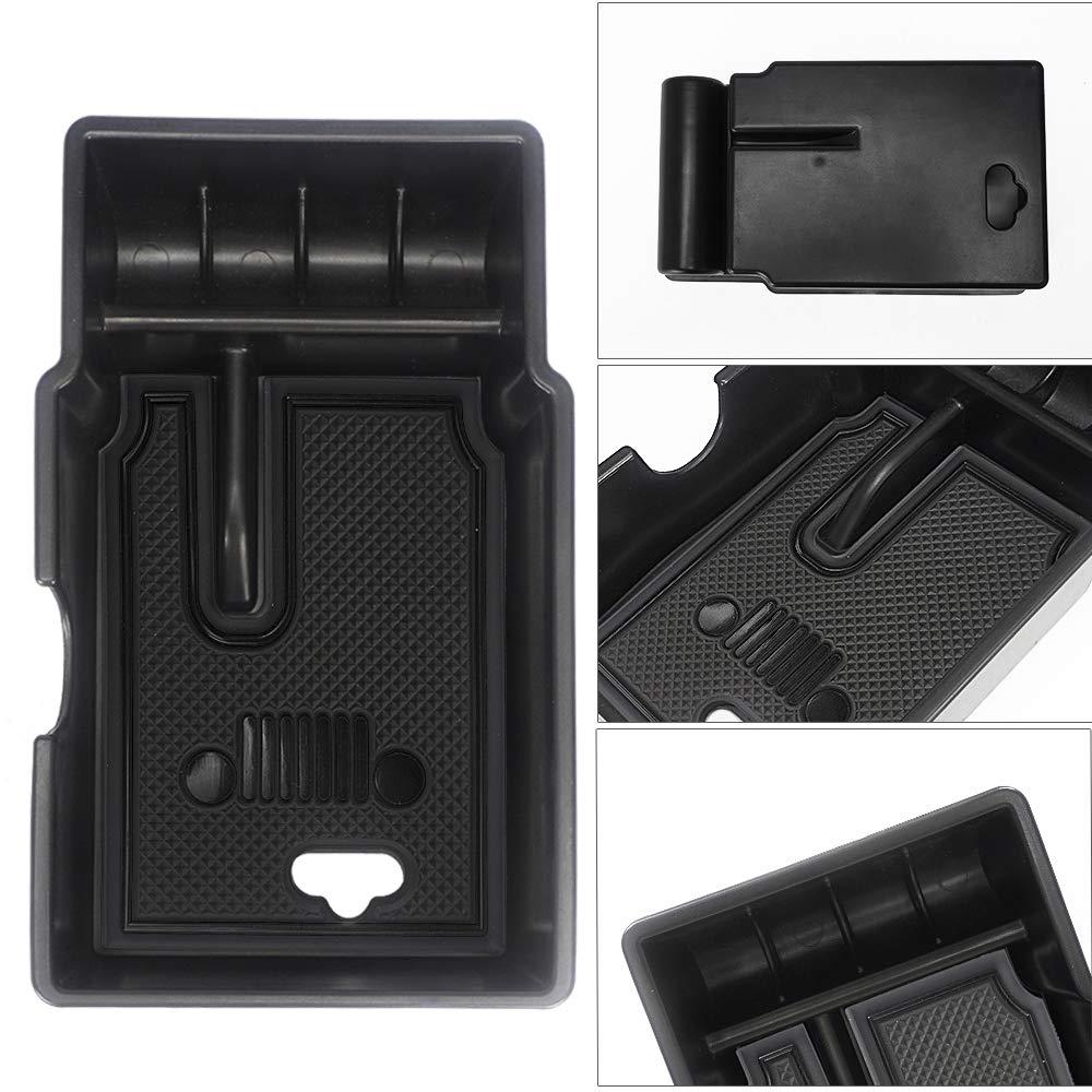 Wei/ß 2 LITTOU Car Center Console Armlehne Box Glove Box Sekund/ärspeicher f/ür Renegade 2015 2016 2017 2018